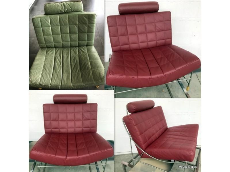 Stoel Stofferen Prijs : Leren bank meubel of fauteuil laten verven meubelkliniek nederland